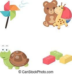 lego, conjunto, propulsor, juguetes, estilo, juguete, teddy,...