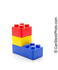 bausteine lego plastik hintergrund wei es stockfoto. Black Bedroom Furniture Sets. Home Design Ideas