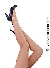 Legs and black high heels
