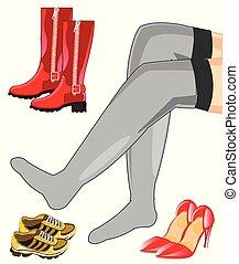 Legs and footwear