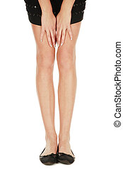 Legs and hands - Long slim legs and hands with fancy...