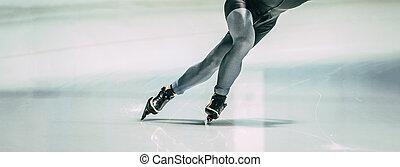 legs athlete speed skater