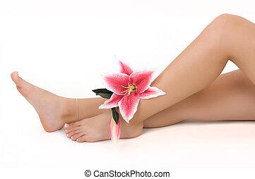 Legs - Beautiful legs in a spa