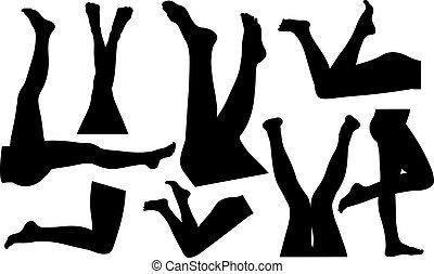 legs - set of female legs isolated
