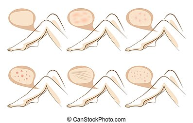 Legs concept of anti aging procedures on skin