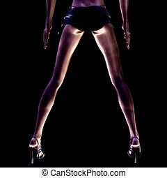 Legs - Digital visualization of sexy legs