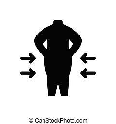 legs  glyph flat icon