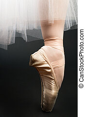 legs in ballet shoes
