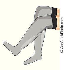 Legs in pantyhose