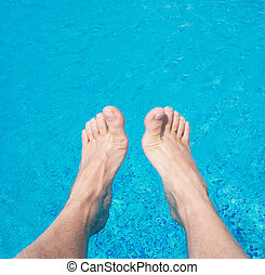legs in the water