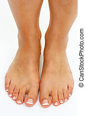 legs of a woman - the legs of a woman against a white...