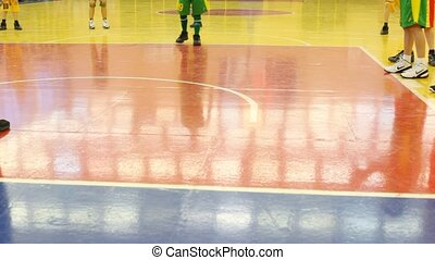 Legs of boys, which play basketball in RSUPES&T