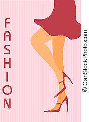 legs of fashionable lady - illustration of legs of...