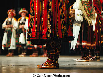 Legs of Serbian Folklore - Abstract composition showing legs...