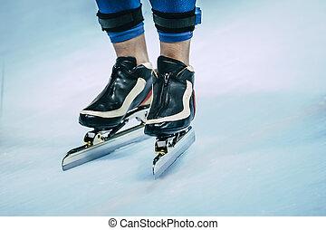 legs of skater in skating