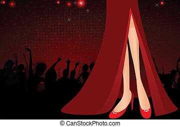Legs of Stylish Lady
