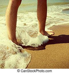 Legs on the Seashore