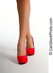 legs red heel