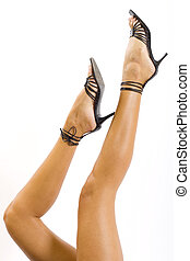 Legs with high heels
