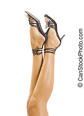 Legs with high heels isolated