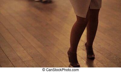 legs woman dancing close up