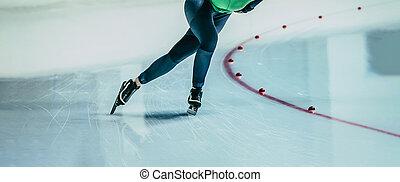 legs women athlete ice skater