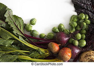 legumes, cópia, Inverno, espaço