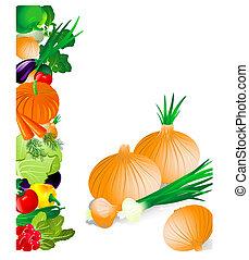 legumes, cebola