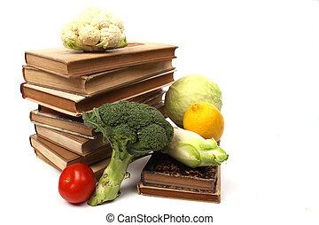 legumes, cookbooks, antigas, vários