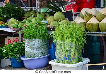 legumes, e, fruta, loja