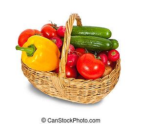 legumes, em, cesta