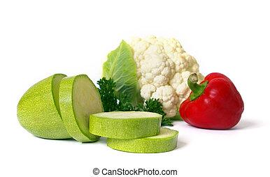 legumes frescos, branco