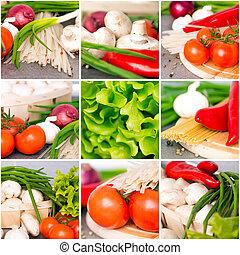 legumes frescos, colagem