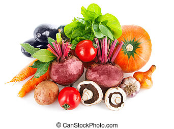 legumes frescos, com, alface folha