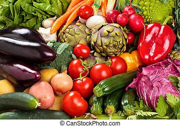 legumes frescos, experiência.