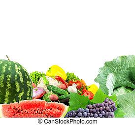 legumes frescos, frutas