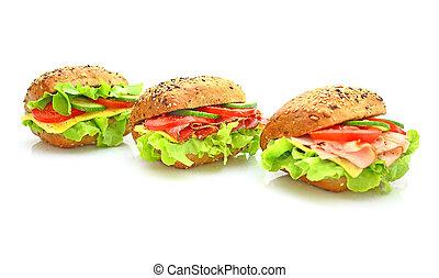 legumes frescos, sanduíche
