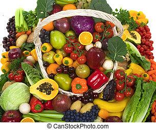 legumes, frutas