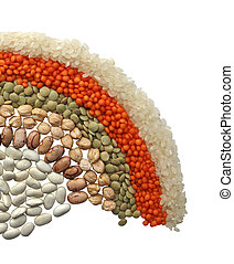 legumes - Group of beans and lentils