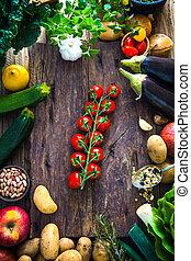legumes, ligado, madeira