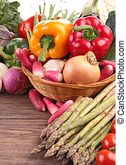 legumes, madeira, fundo