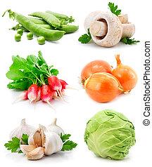 legumes verdes, jogo, folha, fresco