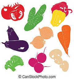 legumes, vetorial, cobrança