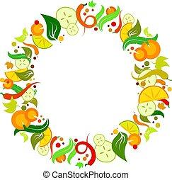 legumes, vetorial, jogo