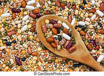 Legumes with background