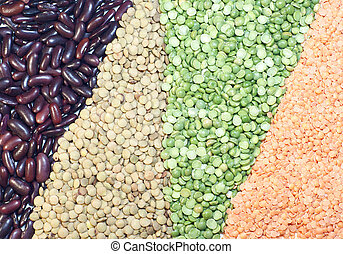 Leguminous - Grasses of lentils, peas and haricots