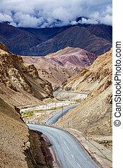 leh, national, inde, himalayas., ladakh, nh-1, srinagar, autoroute