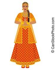 lehenga, noiva, indianas, vestido casamento, vermelho