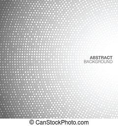 lehký, abstraktní, kruhovitý, grafické pozadí., šedivý