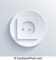 lehký, kruh, vektor,  eps10, ikona